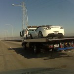 towed Tesla