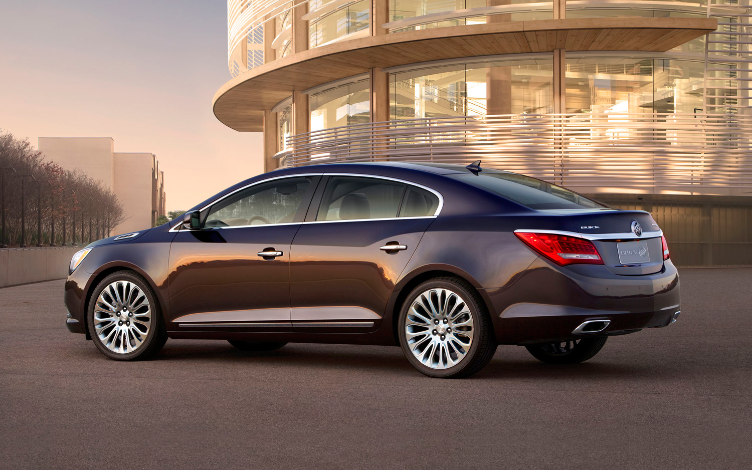 Buick LaCrosse: Parking over Things That Burn