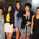 A KARDASHIAN FAMILY AFFAIR:  Kim and Kourtney Kardashian with Kendall, Kylie, and Kris Jenner at the opening of Scott Disick's RYU Restaurant in New York City
