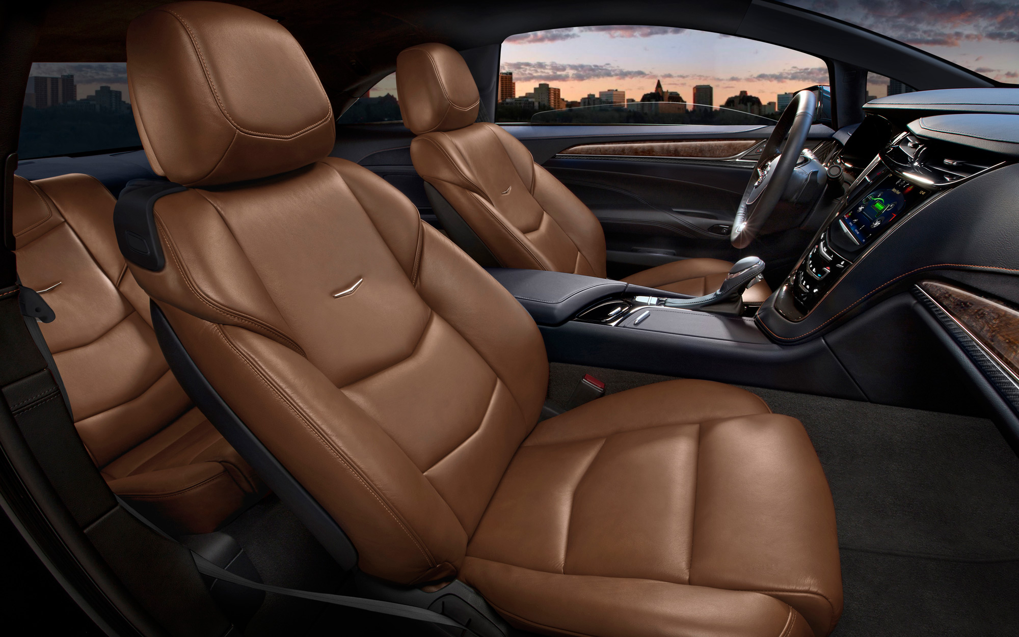 Car interior brown - 2014 Cadillac Elr Interior 4
