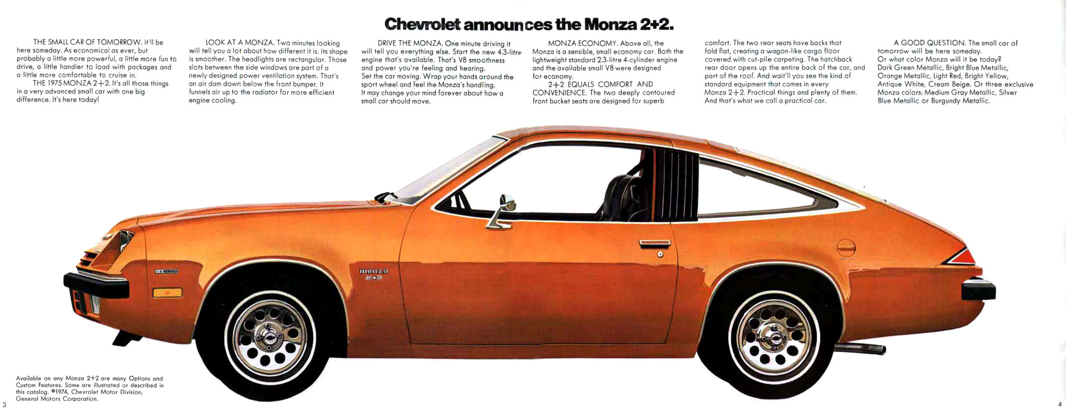 The Almost Muscle Car Chevy Monza 1975 1980 Epautos 1970 1981 Camaro Dash Instrument Cluster Circuit Board For Models 70s And Early 80s Were Weird Years Industry Era Of 60s Was Fading Fast But Fumes Still Lingered What Would