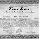 '48 Tucker stock certificate