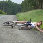 chick on bike