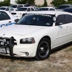 white cop car