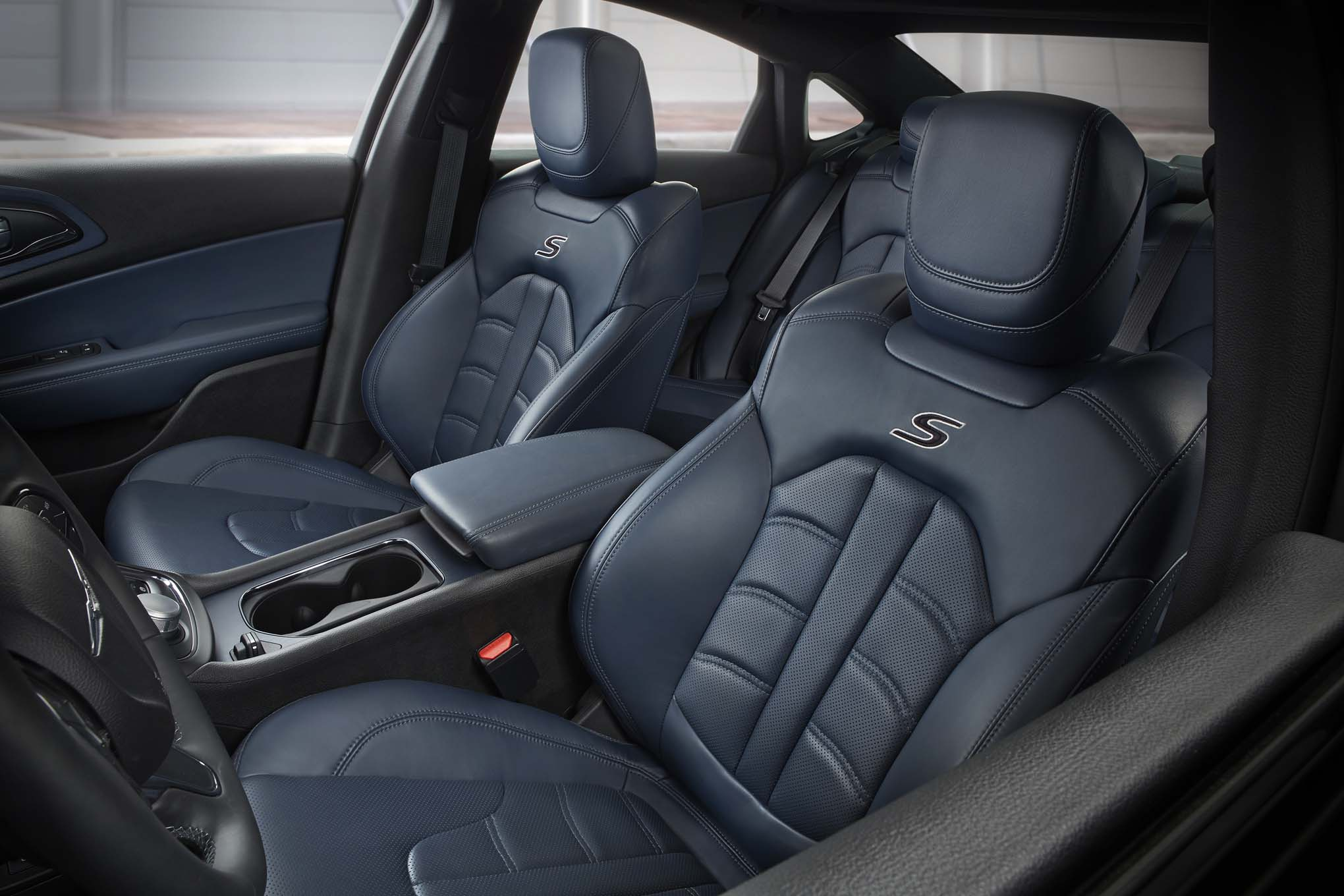 2017 Chrysler 200 Ambador Blue Leather Interior
