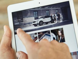 Care by Volvo Subscription on iPad 300x225 - The Next Insurance Offer You Can't Refuse