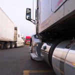 Movement and parking of semi trucks at truck stop